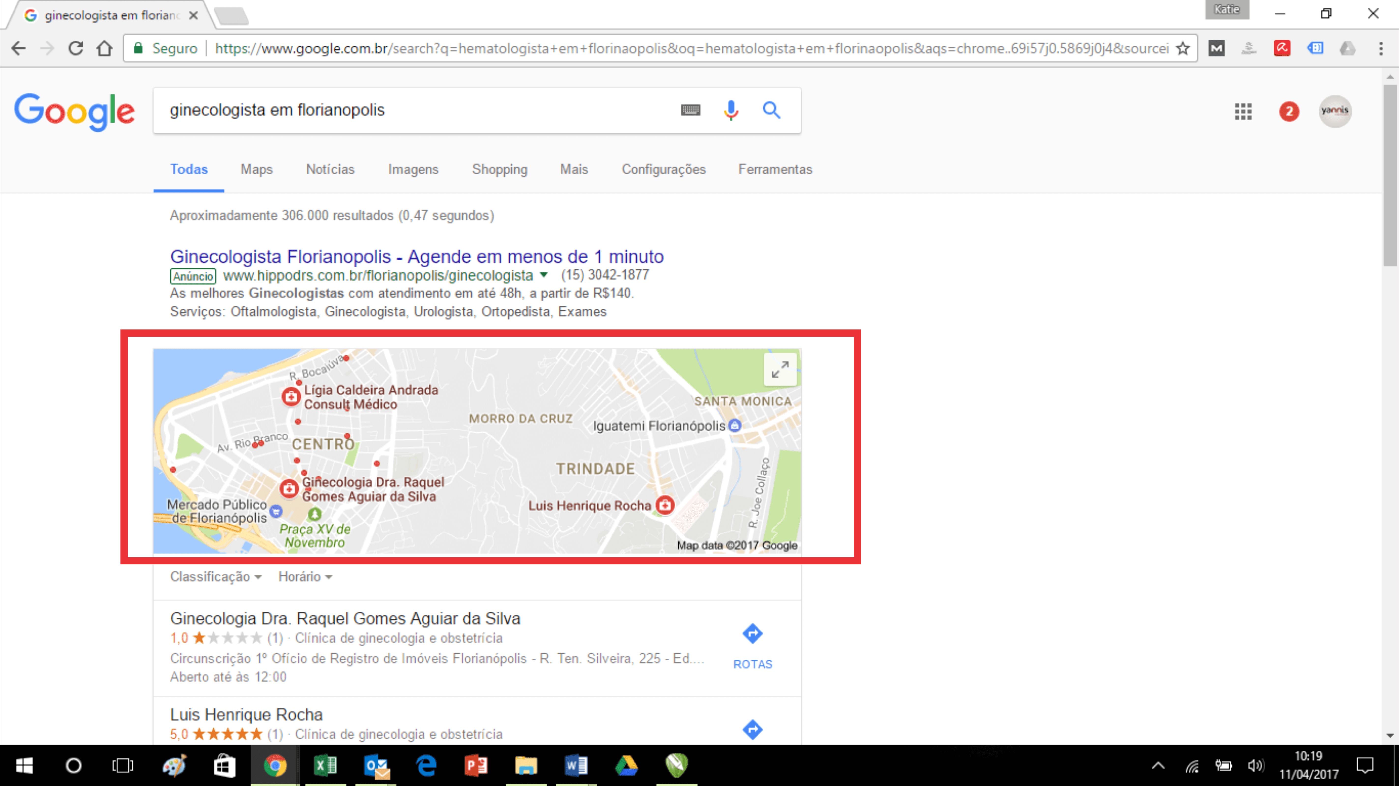 Marketing para médicos - busca Google Meu Negócio